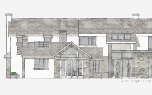 architects-plans-and-elevations-to-proposed-new-living-space-with-open-plan-layout-courtyard-and-exposed-king-truss-roofs-1 previously featured courtyard style house extension architects design