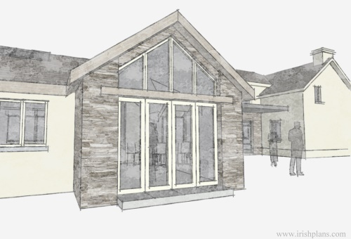 architects-plans-and-elevations-to-proposed-new-living-space-with-open-plan-layout-courtyard-and-exposed-king-truss-roofs-3 previously featured courtyard style house extension architects design