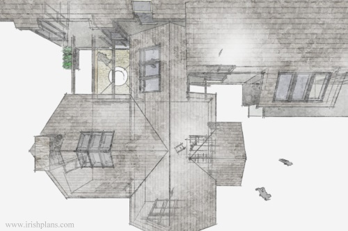 architects-plans-and-elevations-to-proposed-new-living-space-with-open-plan-layout-courtyard-and-exposed-king-truss-roofs-6 previously featured courtyard style house extension architects design