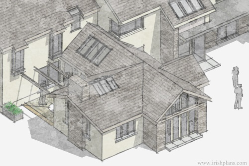 architects-plans-and-elevations-to-proposed-new-living-space-with-open-plan-layout-courtyard-and-exposed-king-truss-roofs-7 previously featured courtyard style house extension architects design