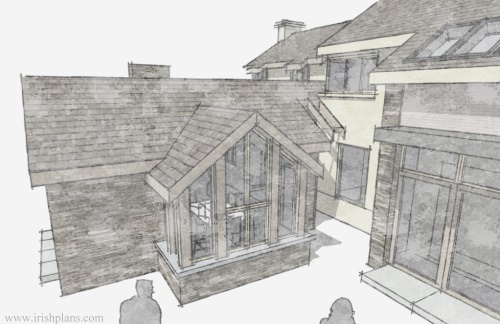 architects-plans-and-elevations-to-proposed-new-living-space-with-open-plan-layout-courtyard-and-exposed-king-truss-roofs previously featured courtyard style house extension architects design