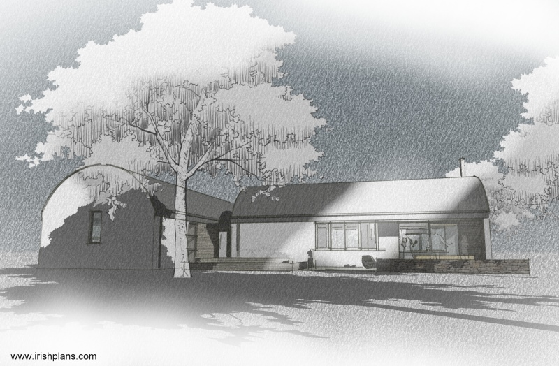barn-style-dwelling-house-with-barrel-roof-curve-3d-animated-contextual-perspective-drgs Featured House architects design